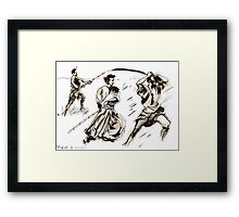 The 7 Samurai A Sketch Framed Print