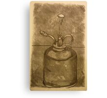 Olive Oil Can (Charcoal) Canvas Print