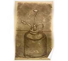 Olive Oil Can (Charcoal) Poster