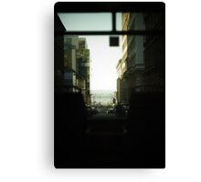 Down The Road and Through The Bus Canvas Print