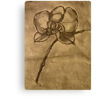 Orchid (Charcoal) Canvas Print