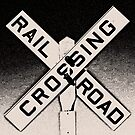 railroad crossing by Bruce  Dickson