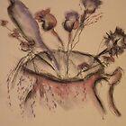 Dried Flowers ( Pencil & Pastel) by KarenJI1962