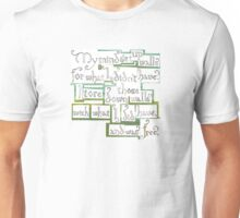 """""""I tore down those walls with what I did have..."""" Unisex T-Shirt"""
