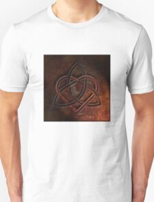 Celtic Knotwork Valentine Heart 01 - Rust Texture 01 TShirt T-Shirt