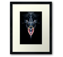 Burning Heart Framed Print