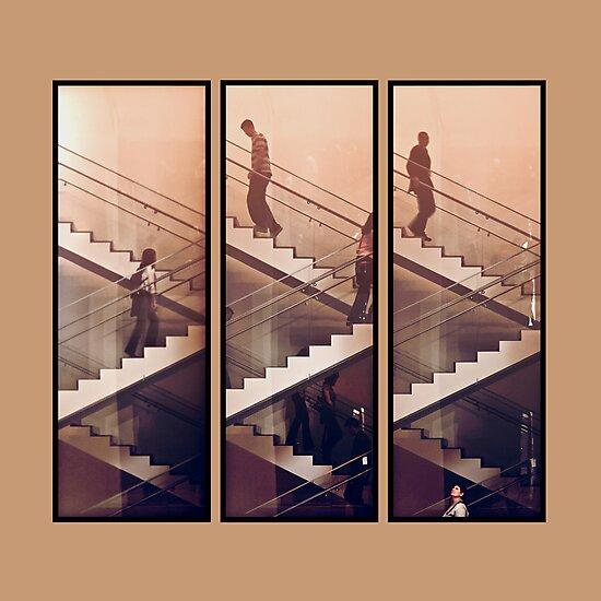 The Staircase (Beige) by Zohar Lindenbaum