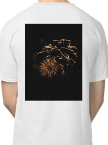 BIRDS HOVERING OVER FIREWORKS DISPLAY Classic T-Shirt