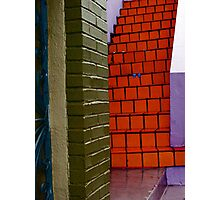 Red Tile Stairs Photographic Print