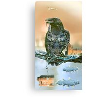 Unatural Selection 7 Raven in a Tree Above a Battle Ground. Canvas Print