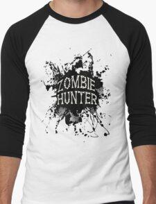 Zombie Hunter black grunge Men's Baseball ¾ T-Shirt