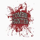 Zombie Hunter Red splatter by thatstickerguy