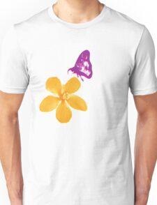 Butterfly & Flower Unisex T-Shirt