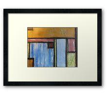 Basil Pastel Blocks Framed Print