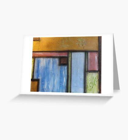 Basil Pastel Blocks Greeting Card