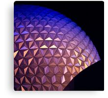 Disney Epcot Center Dome at Night Canvas Print