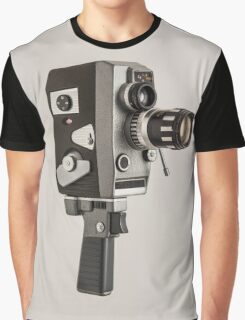 Retro Cine Camera Graphic T-Shirt