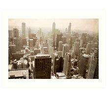 Overlooking Chicago Art Print