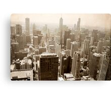 Overlooking Chicago Canvas Print