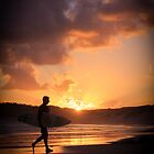 Sunset Surfer, Soldiers Beach, NSW by Donna Jones