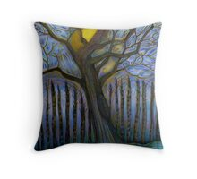 Moon Tree Throw Pillow