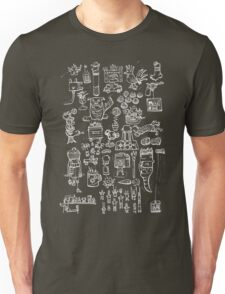 Scribblings white Unisex T-Shirt