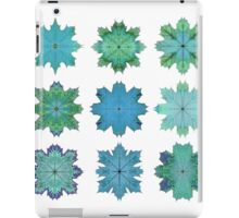 Teal Maple Leaf Stars iPad Case/Skin