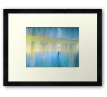 Hush, Blue Framed Print