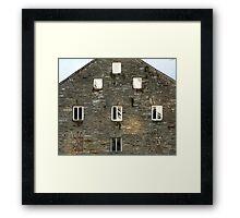 Irish Barn Windows  Framed Print