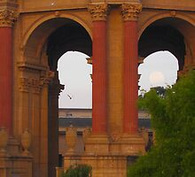 Palace of Fine Arts and the Moon by David Denny
