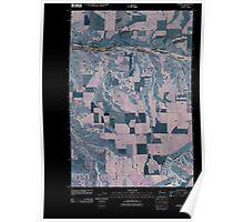 USGS Topo Map Washington State WA Pomeroy 20110406 TM Inverted Poster