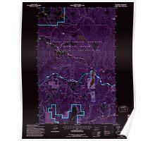 USGS Topo Map Washington State WA Cliff Ridge 240570 1992 24000 Inverted Poster