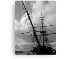 HMS Warrior Portsmouth UK Canvas Print