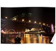 Every major landmark in Newcastle Poster