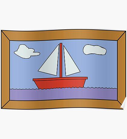 Sail Boat Artwork Poster