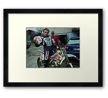The YZ250 motocross race bike made by Yamaha. The challenger .... Brown Sugar . Tribute to Freddie Mercury & Queens. Yeah !!! forever . Amen. . Views 3038 . Super good !!!! Framed Print