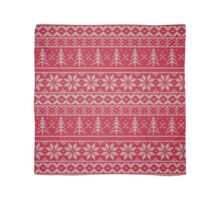 """""""Winter Sweater"""" - RED - Faux-Knit - Pattern Print  Scarf"""