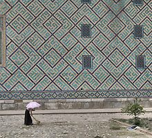 Working in the heat (Samarkand) by Marjolein Katsma