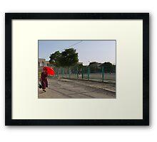 Walking in the sun (Bukhara) Framed Print