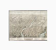 Vintage Pictorial Map of Pawtucket RI (1877) Unisex T-Shirt