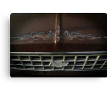 Spider on the Truck's Hood Canvas Print