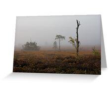 Holt Heath misty morning Greeting Card