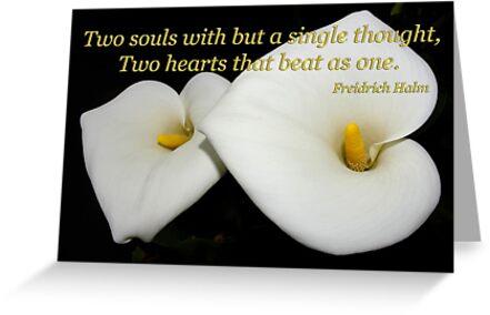 2 lilies 2 hearts card by dedmanshootn