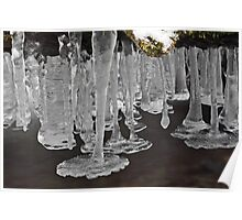 Icicles above the Creek Poster