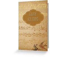Gorgeous Happy Holidays in Gold Greeting Card