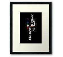 ASDF Framed Print