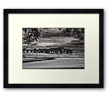 As the Clouds Roll in Framed Print