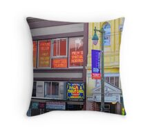 North Beach Fortune Teller Throw Pillow