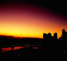 Sunset of Busan  by aoing