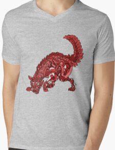 Red Wolf Mens V-Neck T-Shirt